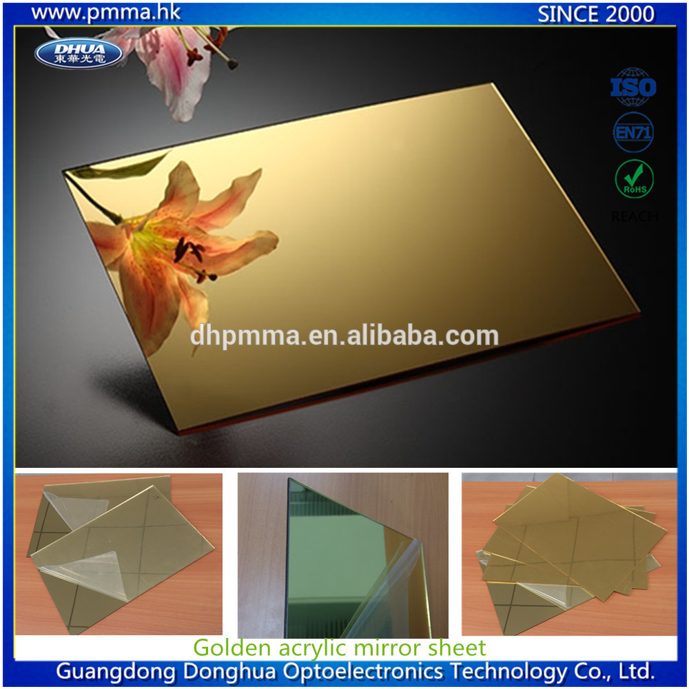 Acrylic gold mirror sheet for decoration factory wholesale