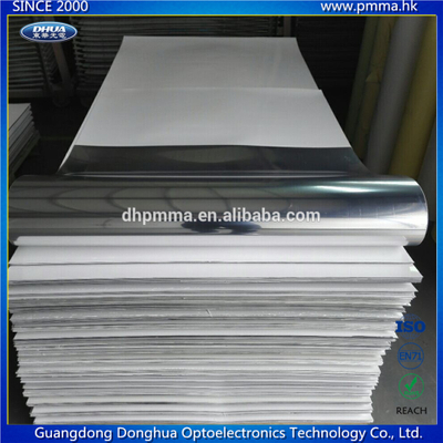 Flexible mirror finished plastic sheet