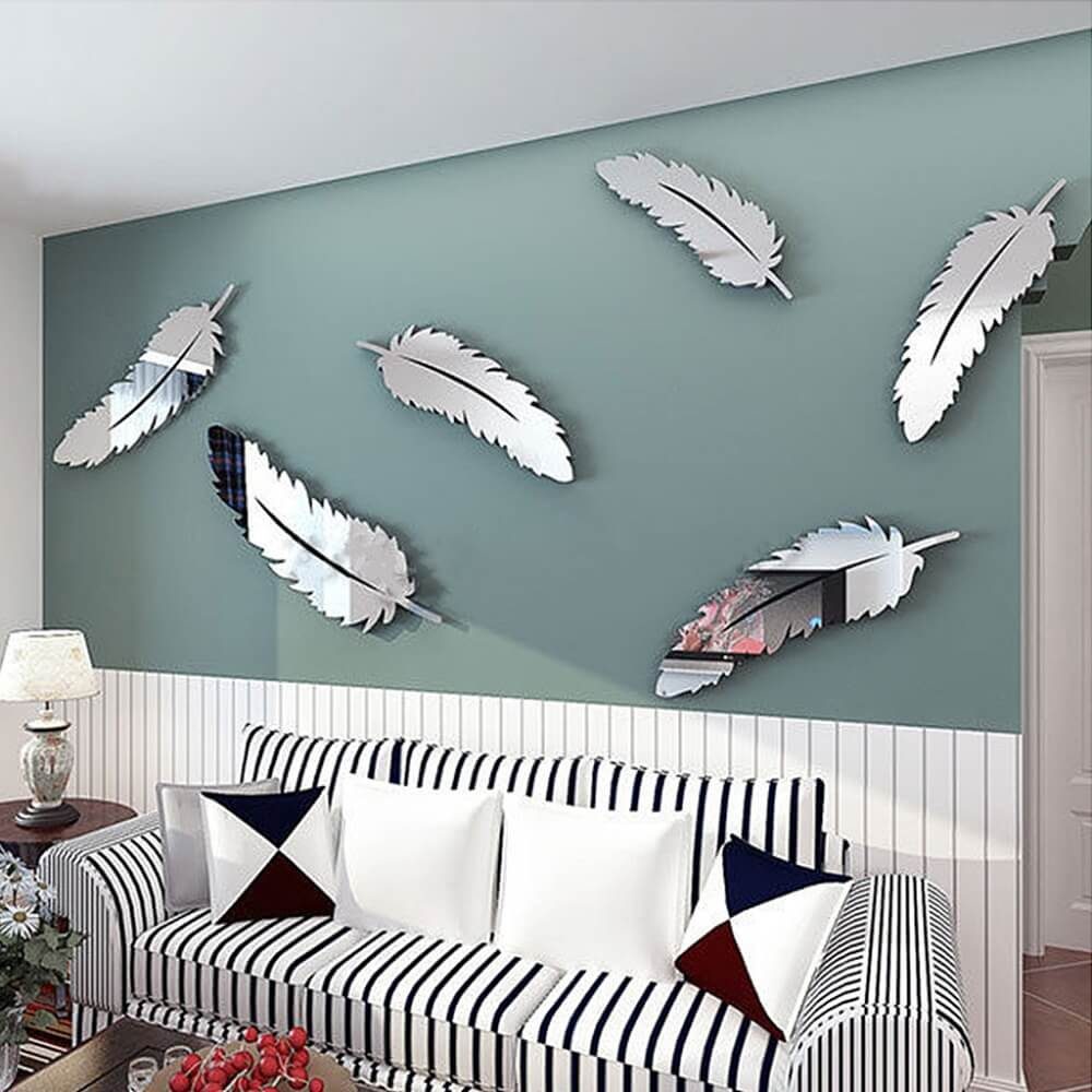 3d acrylic mirror wall sticker