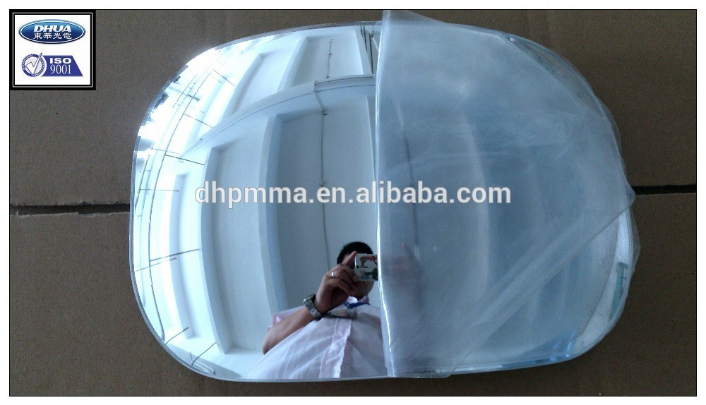 custom make blind spots acrylic plexiglass convex mirror