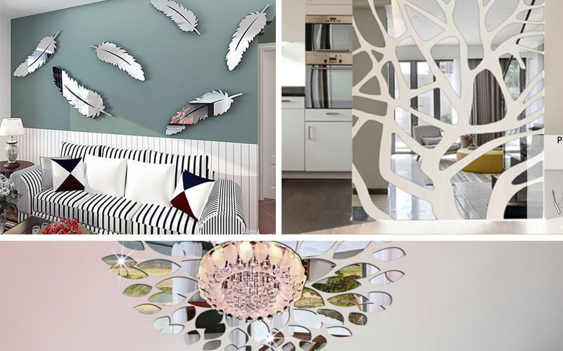 Acrylic wall mirror stickers are increasingly popular in the decoration market