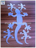 Gecko Acrylic Mirror with Self-adhesive Back for Wall Decoration