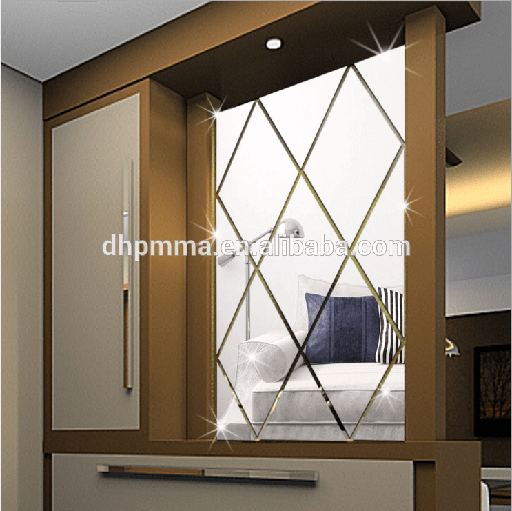 Home decorative acrylic material plastic Mirror Sheet