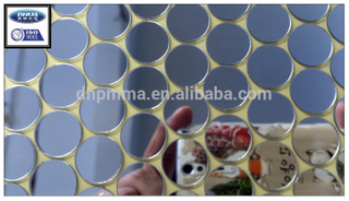 small round acrylic mirror for lipsticks and cosmetic tools