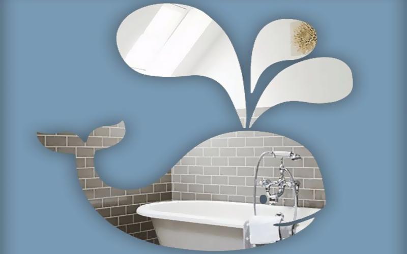 Bathroom mirror decoration acrylic mirror sheet