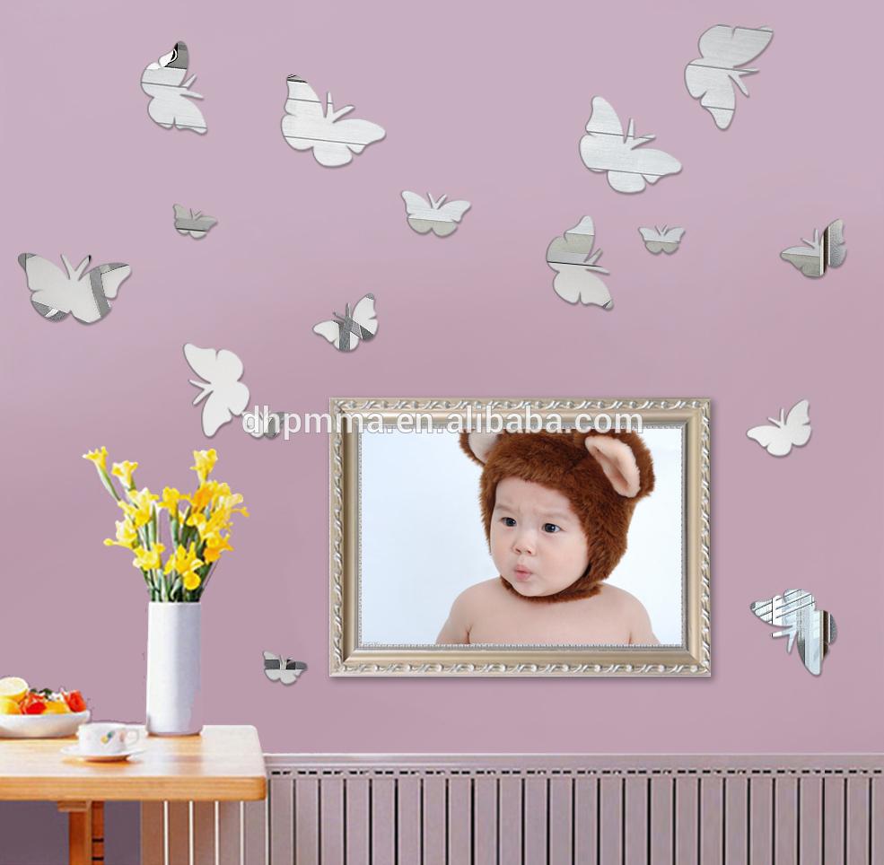 Wall Self Adhesive  Mirror Butterflies
