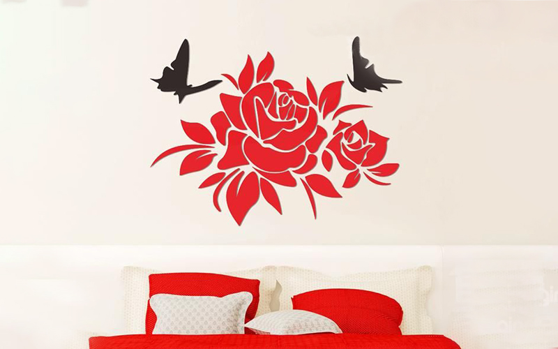 Let's take a look at the beautiful figure of acrylic wall stickers.