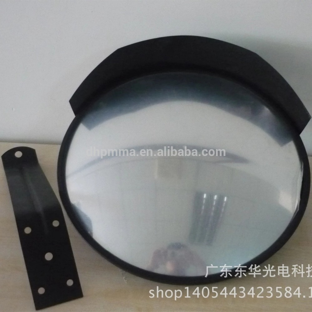 Dia 300mm shatterproof acrylic security convex mirror with hood
