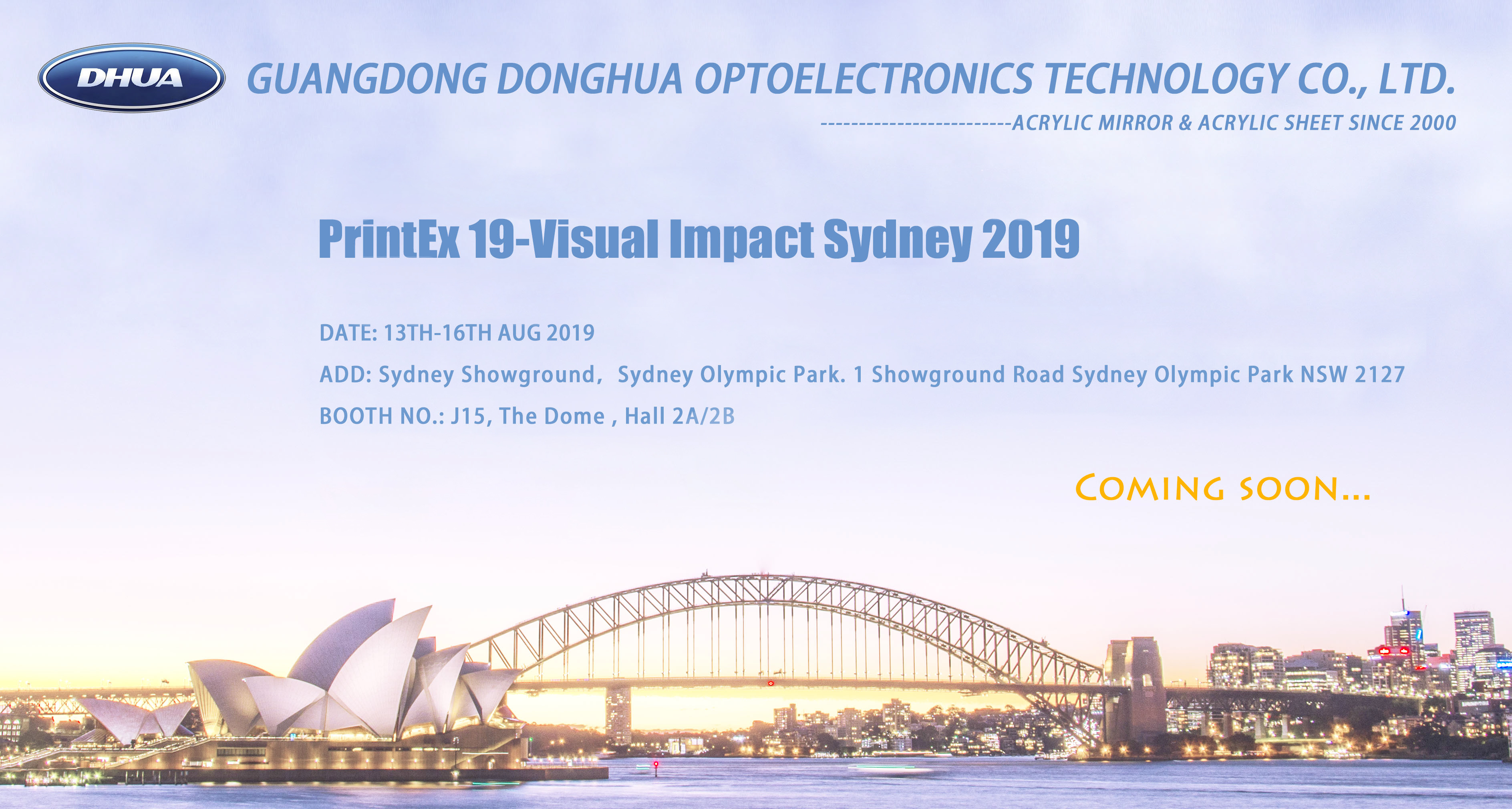 Invitation Visual Impact Sydney 2019 -- Donghua Acrylic Mirror
